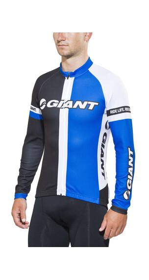 Giant Race Day Cykeltrøje lange ærmer Herrer blå/sort